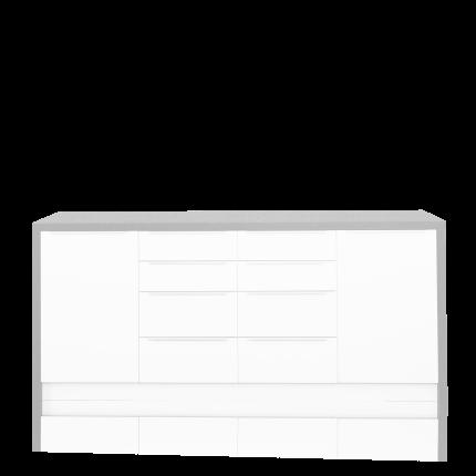 Rahmen 208 für 4 Unterschränke, zu Sideboard,Farbe beton natur
