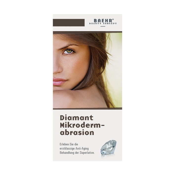 Endkundenbroschüre Diamant-Microdermabrasion, 25 Stk