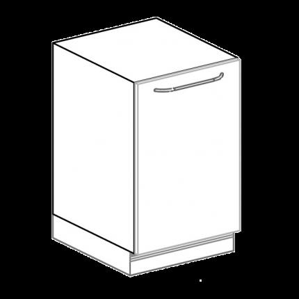 Spülenunterschrank für Hygienezeile Breite 50 cm, Front grau / Korpus weiß