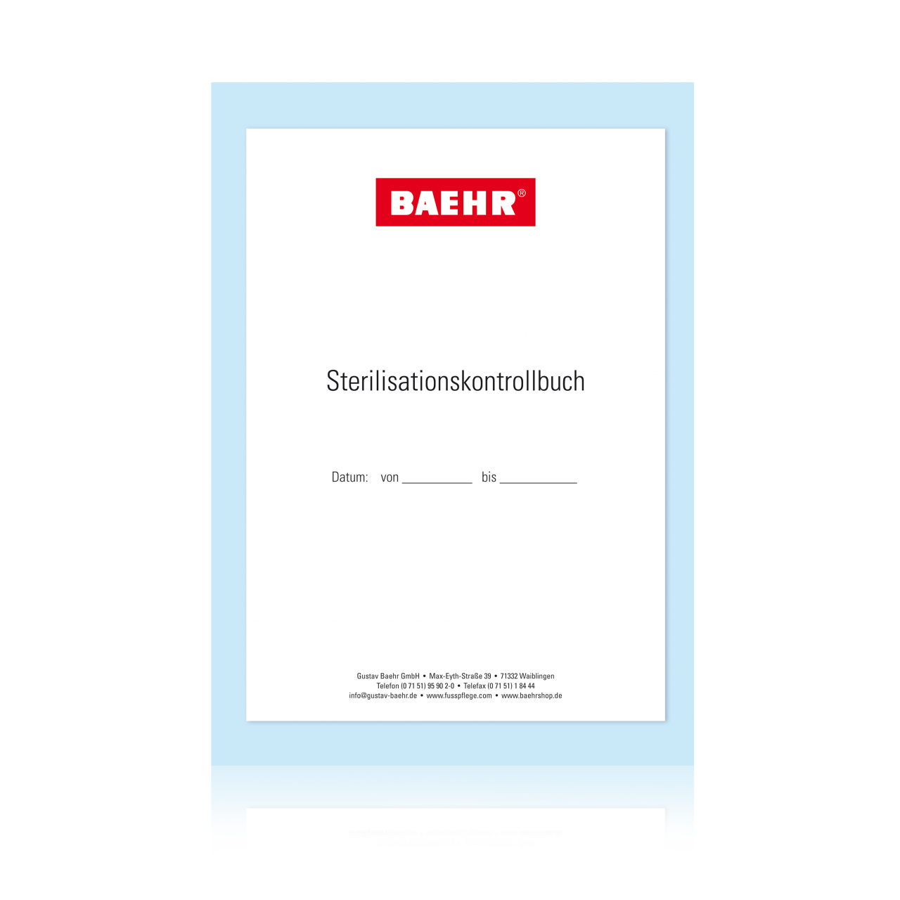 Sterilisations-Kontrollbuch