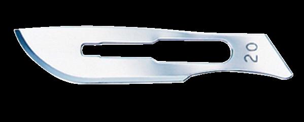 SWANN-MORTON Carbonstahl-Klingen Nr. 20 steril (100 Stück)