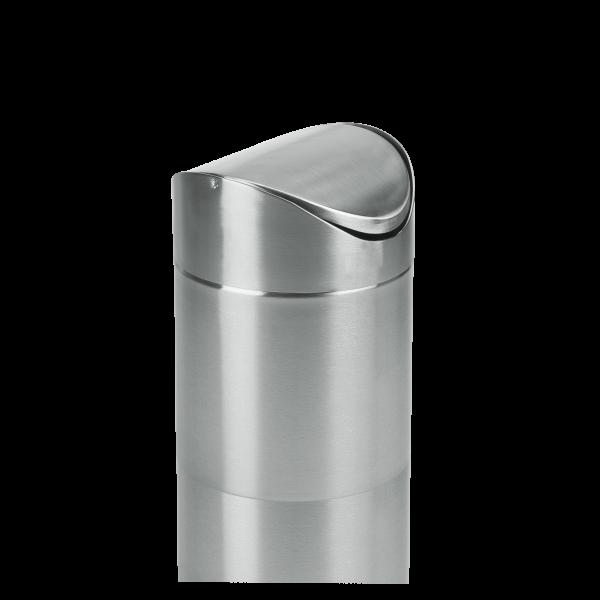 Tischabfalleimer Edelstahl, 12cm, H 16,5cm