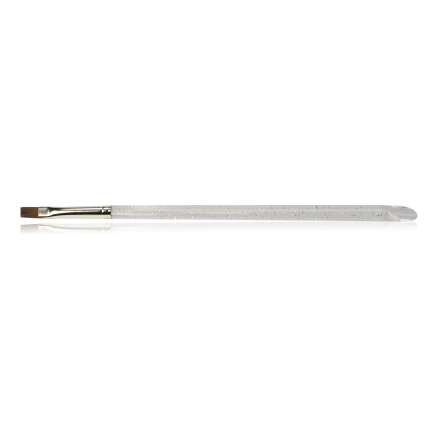 Gel-Modelllage-Pinsel Gr.6, gerade/flach Rotmarder/Naturhaar